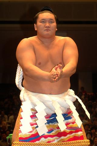 Sumo wrestler Hakuho Sho.