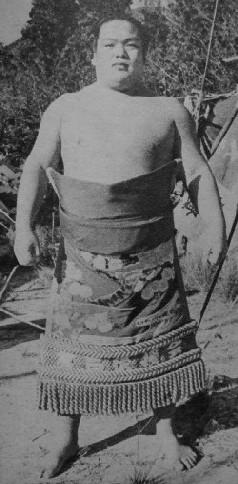 Sumo wrestler Kotozakura Masakatsu.