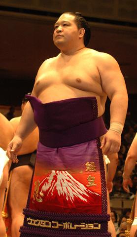 Sumo wrestler Kaio Hiroyuki.