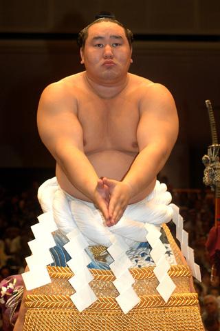 Sumo wrestler Asashoryu Akinori.